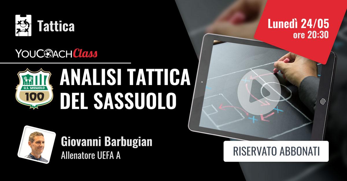 YouCoachClass Barbugian analisi tattica del Sassuolo