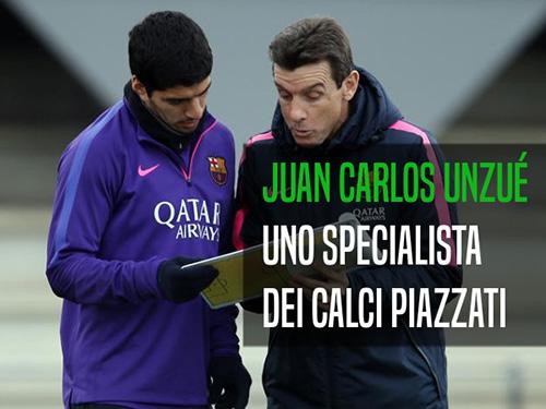 Lo specialista dei calci piazzati del Barcellona: Juan Carlos Unzué