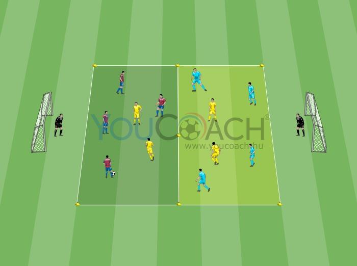 Labdatartás 3 csapattal, 4 a 2 ellen - FC Barcelona